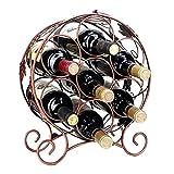 BGROEST Botellero de hierro forjado para decoración de vino, vitrina, vitrina, vitrina, vitrina, botella, vino tinto (color: Ml1, tamaño: una talla)