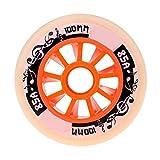 SSCYHT Ruote Pattini in Linea, 90Mm 100Mm 110Mm, Ruote per Pattinaggio di velocità su Ruote in PU Ruote in Gomma per Interni Ed Esterni Confezione da 8,Arancia,100mm