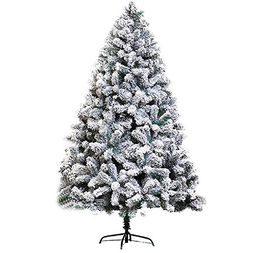 Snow Flocked Artificial Pine Christmas Tree 150cm 5 Feet, Realistic Xmas Tree With Sturdy Stand Holiday Decor Ornament-b 150cm(5 Feet)