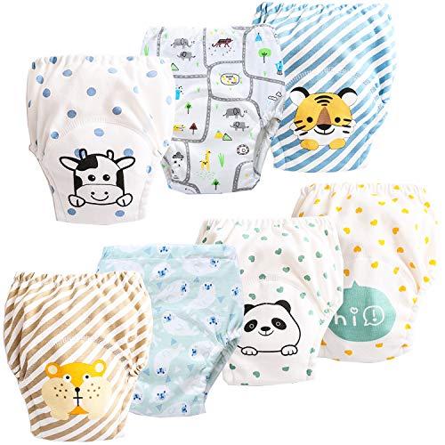 JackLoveBriefs Baby Kleinkind Töpfchen Unterwäsche Töpfchen Trainingshose (1 bis 6 Jahre, 7 Stück) , Verschiedene Farbe und Motive, Herrsteller Gr. 100
