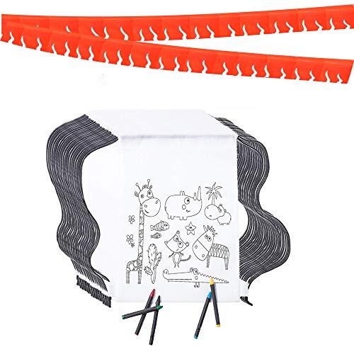 Mitgebsel Kindergeburtstag. 10 Taschen Zu Malen, 10 Sets mit 5 Farbigen Wachsen und eine 20m Girlande (zufällige Farbe). Für Kindergeburtstag Gastgeschenke und Kleine Geschenke für Kinder