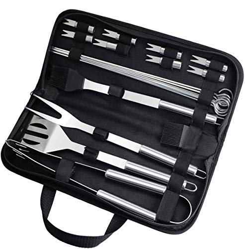 Aiglam 20Pcs Barbecue Tool, BBQ Accessories Stainless Steel BBQ Tools Set...