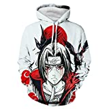 CHENMA Men Naruto 3D Print Pullover Hoodie Sweatshirt with Front Pocket(Tag L/UK M, Color 8)