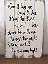 WoodenSign Now I lay me down to sleep wood sign handpainted Magnolia Market Fixer Upper boy signs nursery art girl signs farmhouse decor