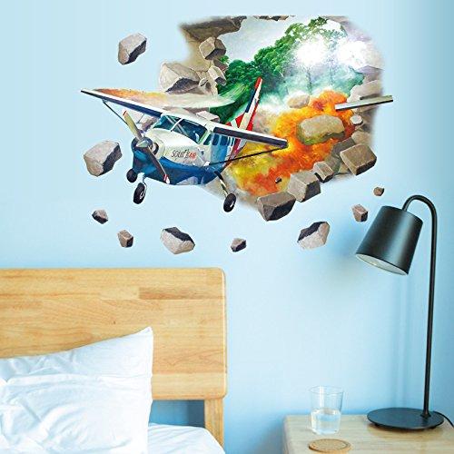 Wandbild ZOZOSO Defekter Wand-Hubschrauber-Schlafzimmer-Wohnzimmer-Lehrer Tv Sofa Background Decoration Sticker