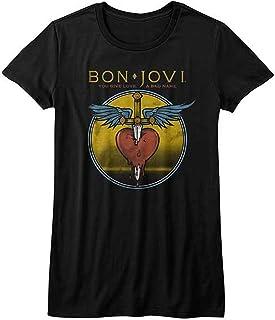 BON JOVI ボン・ジョヴィ (デビュー35周年記念) - BAD NAME/Tシャツ/レディース 【公式/オフィシャル】