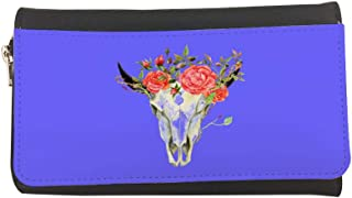 Abstract art of the skull of a deer Printed Leather Case Wallet