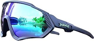 Remifa Gafas de sol deportivas originales KAPVOE TR90 para hombres y mujeres, nuevas gafas de ciclismo fotocromáticas polarizadas, 12 colores (A04)