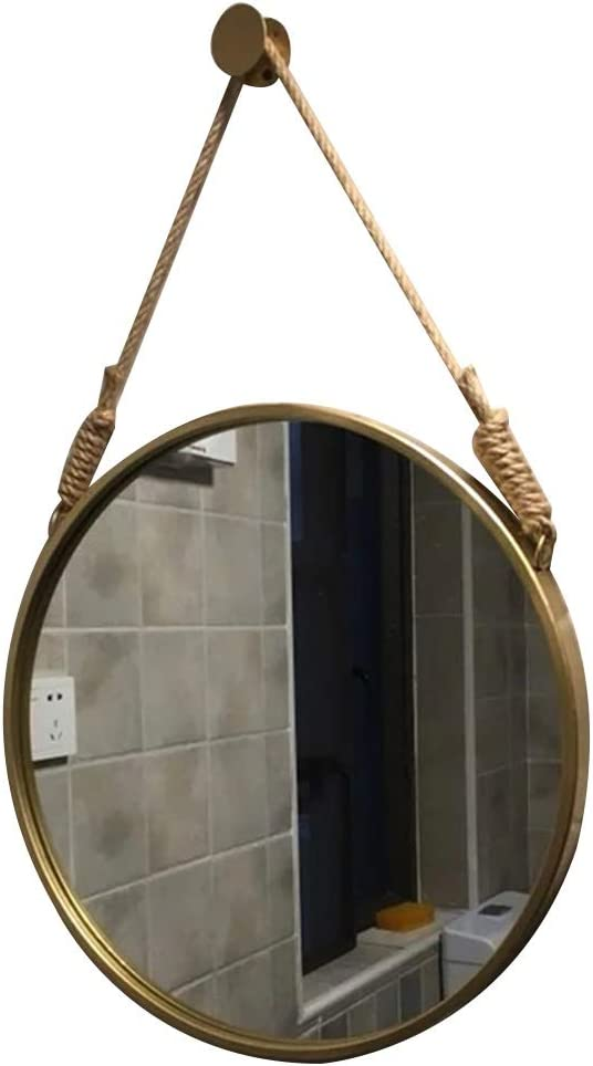 MakeupMirrors Beauty Mirror Wooden Decorative Framed Wall At Be super welcome the price of surprise Round