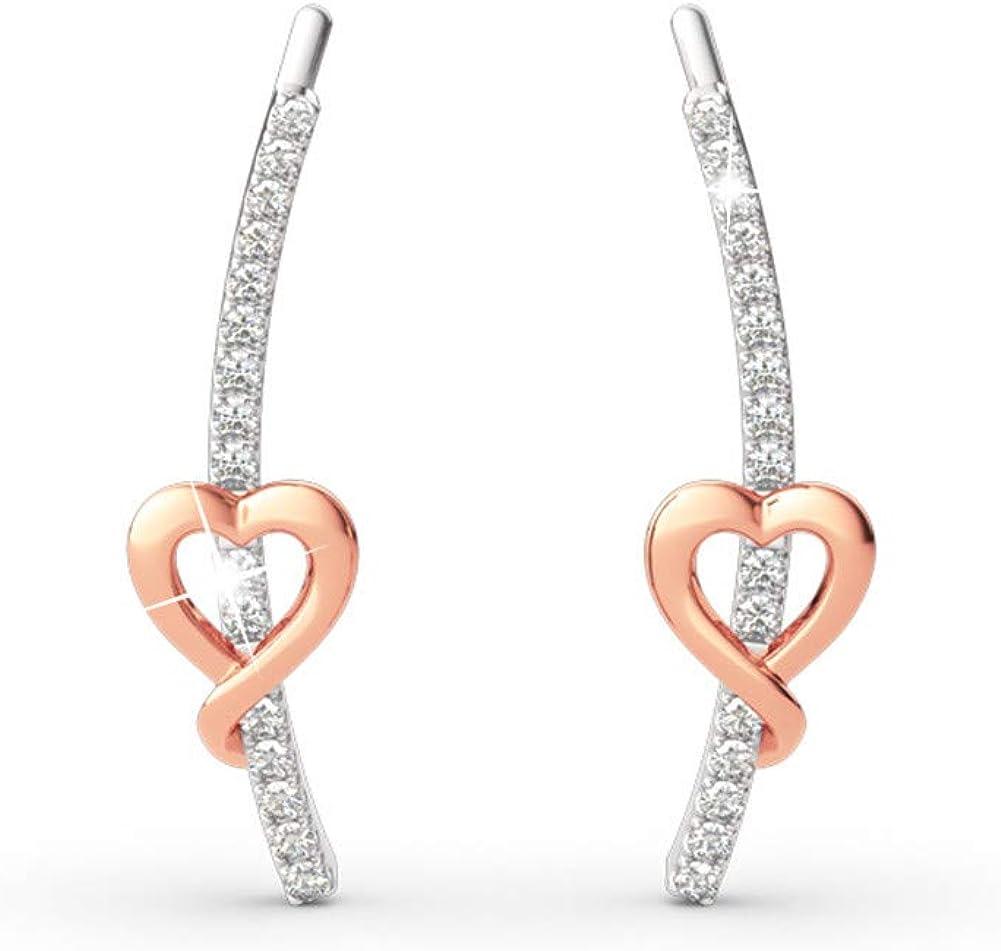 Romantic pink heart earrings