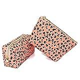 Small Makeup Bag Cosmetic Bag Waterproof Makeup Pouch Leopard Makeup Bag Multifunction Accessories Organizer Makeup Bag for Purse