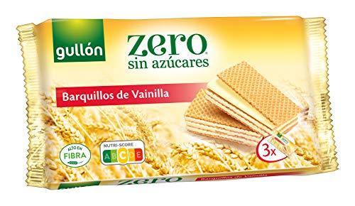 Gullón ZERO sin azúcares, Barquillos Sabor Vainilla, 180 Gramos, 3 X 60G