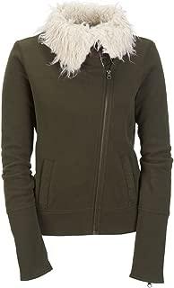 Aeropostale Womens Knit Sherpa Aviator Bomber Jacket