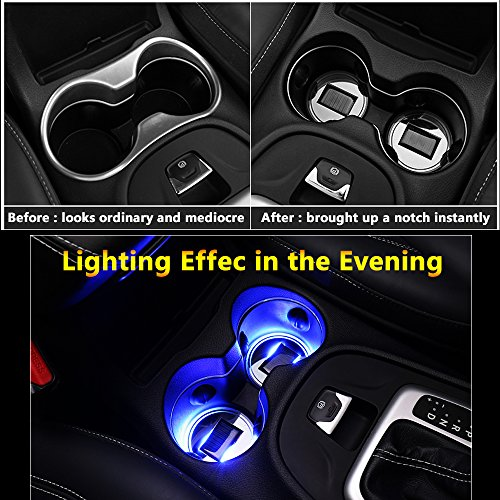 LED à énergie solaire pour porte-gobelets de voiture