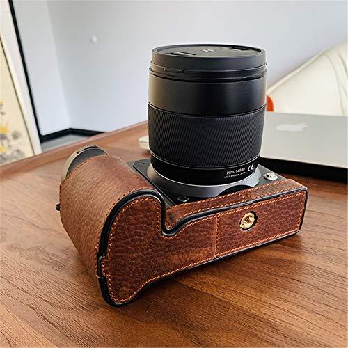 Crrs Bolso para cámara Base para cámara Funda de Cuero de Piel de Vaca Hecha a Mano Funda para cámara Funda para manija, Adecuada para Hasselblad X1D II 50C / Hasselblad X1D