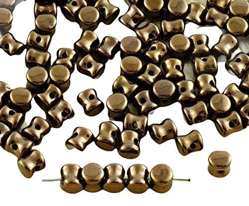 Spacer Beads 60pcs Luz Metálica de Bronce Brillo checa Cuentas de Cristal...