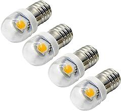 Ruiandsion 4 stks E10 LED Lamp 6 V 0.6 W 5050 1SMD Geel LED Vervanging Lamp Upgrade voor Koplampen Zaklampen Torch Light, ...