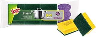 SCOTCH BRITE Pack 6 Eponges Tampon Classic Jaune Vert