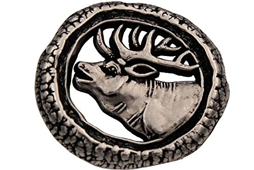 Silber antik Knöpfe Metall Ösenknöpfe Hirsch Trachtenknöpfe Trachtenjacke Made in Germany 20mm oder 25mm (6 Stück) (20mm)