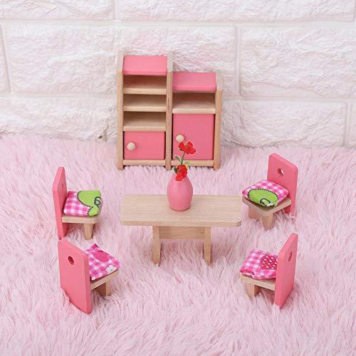Dilwe Puppenhausmöbel, Holz Geeignet für Puppenhaus 1:12(Baño)