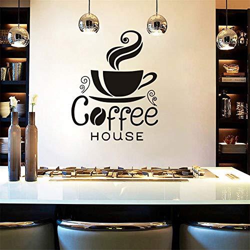stickers muraux Art Coffee House mots grains de café salle à manger décor à la maison