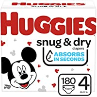 180-Count Huggies Snug & Dry Baby Diapers (Size 4)