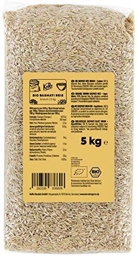 KoRo - Bio Basmatireis braun 5 kg - Vorteilspack Naturreis - Beste Qualität aus Biologischem Anbau