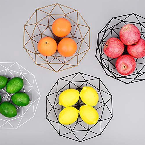 Wankd Frutero de Metal – Decorativa Cesta de Metal para Fruta y Verdura Northern Europe Innovative Iron Art Fruit Storage Basket Fruit Bowl Cestas de Almacenamiento Cesta de Fruta Hueco, S