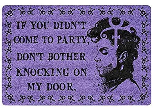 LINKLANK Felpudo con texto en inglés 'If you are not attending a party morado'