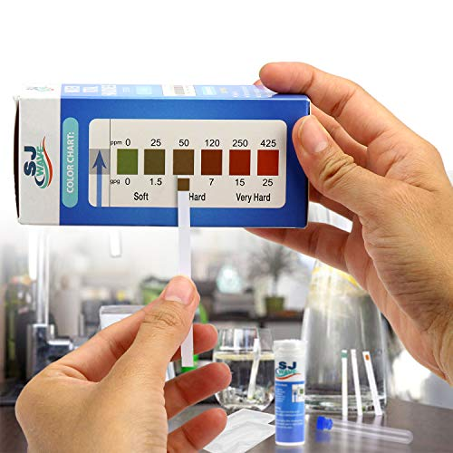 Water Hardness Test Strips   150 Strips for 150 Hard Water Tests, Fast and Accurate Water Quality Testing Kit for Water Softener, Pool, Aquarium and etc. 0-425 ppm and 0-25 gpg