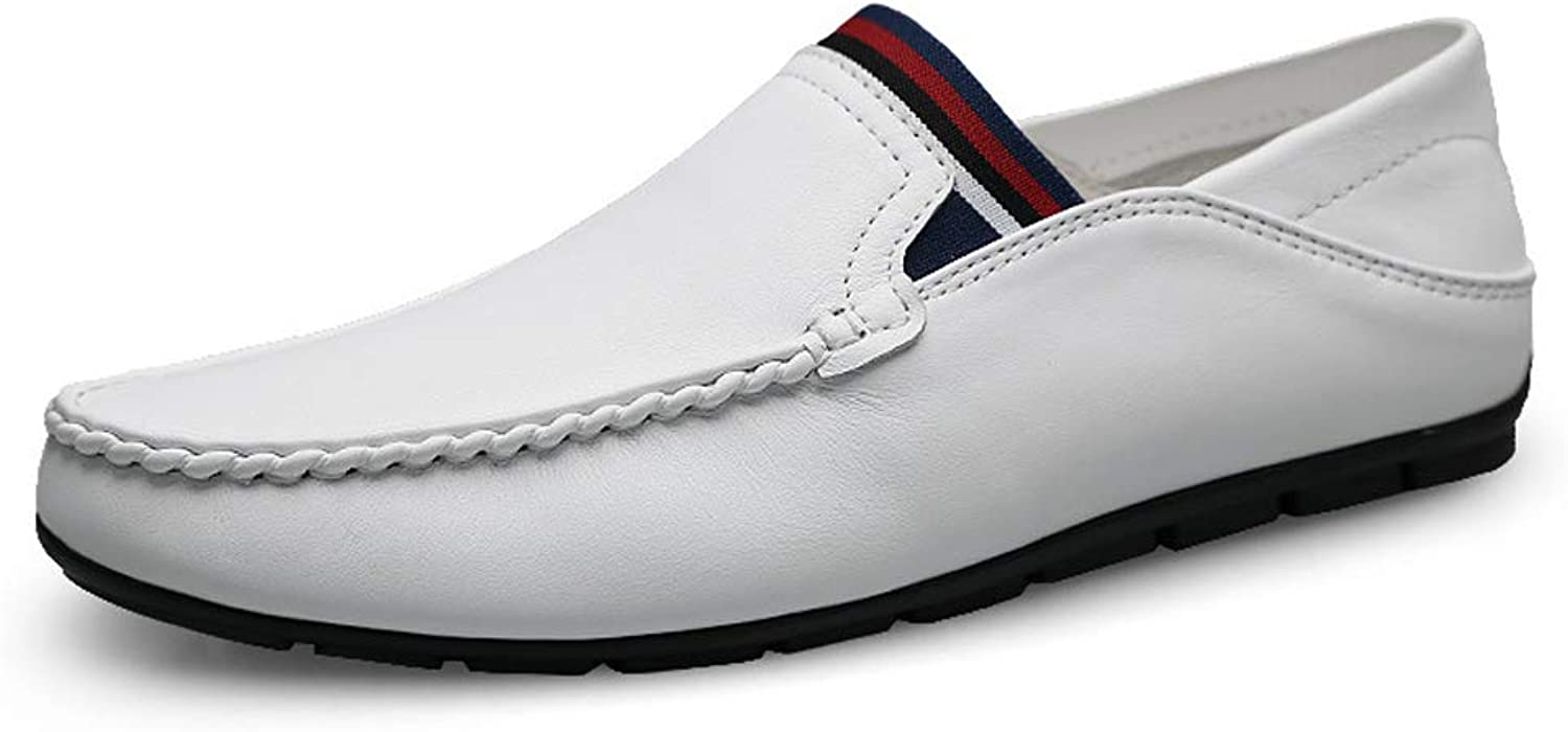 Summer Men's Leather Peas shoes Casual Lazy shoes