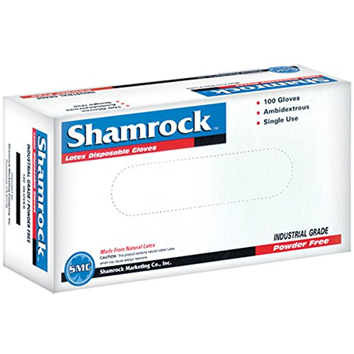 Shamrock 60414-XL-cs Work, thin, No Powder, Thin, ,Rubber, X-Large, Natural