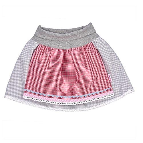 Eisenherz Baby Trachtenrock mit elastischem Bündchen mit angenähter Schürze 74-80. Süßes Geschenk