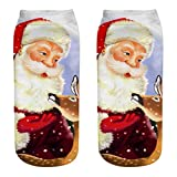 TEBAISE Weihnachten socken Damen & Mädchen Wollsocken Wintersocken Bunte Dicke Warme Socken 1er-Pack Einheitsgröße