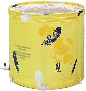 SHYPT Yellow Inflatable Bathtub,Portable Bathtub, Foldable Freestanding Soaking Bathtub Easy to Install, Eco-Friendly Size,65 * 68cm