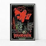 PQGHJ Christmas Jigsaw Puzzle de Madera 1000 Piezas Imagen de Montaje Frankenstein 1931 Classic...