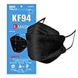 KF94 マスク 50枚 口紅がつきにくい 息がしやすい メガネが曇りにくい 韓国マスク 3D立体構造 不織布 個包装 韓国製 黒 【国内検品済み】