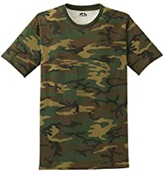 Joe's USA Mens Camo-Camouflage T Shirts in Mens Sizes: XS-4XL Printed with Joe's USA Logo Inside Pure perfection. Unlike other tees, our Perfect Weight tee remains looking and feeling perfect wear after wear. 4.3-ounce, 100% ring spun combed cotton 3...