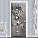 YXGMT 3D Autocollant De Porte Murale Affiche Papier Peint Art Decal Sticker Mural...