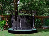 JumpKing Trampolin 4InGround Deluxe,27 Meter schwarz/grün