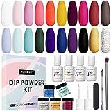 20 Colors Dip Powder Nail Kit...