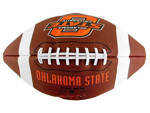 NCAA Game Time Full Size Football , Oklahoma State Cowboys, Brown, Full Size