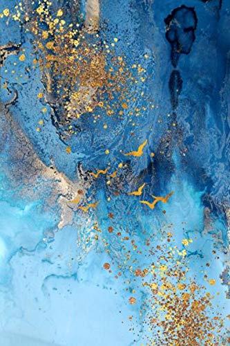 nobrand SNUMDQW Pittura Decorativa Luce Moderna Semplice Astratto Blu Mare e Sabbia Dorata Nordic Wall Art Canvas Painting-60x90cm Senza Cornice