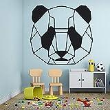 wZUN Decoración de la habitación de los niños patrón de Panda de Dibujos Animados Etiqueta de la Pared Vinilo Autoadhesivo Flor Impermeable decoración Papel Tapiz 69x66cm