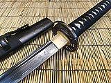 XRONIN 浪人 • 龍神 Authentic Handmade Damascus Black Blade - Hand Folded