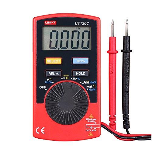 UNI-T UT120C Tamaño de bolsillo Stype Multímetro digital Probador de rango automático DC Diodo de voltaje CA Mini medidores eléctricos Pantalla LCD