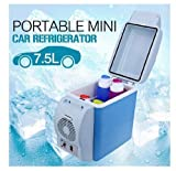 Cloudsale Portable Abs Multi-Function 12V Auto Car Mini Fridge Refrigerator, 7.5 L, Multicolor