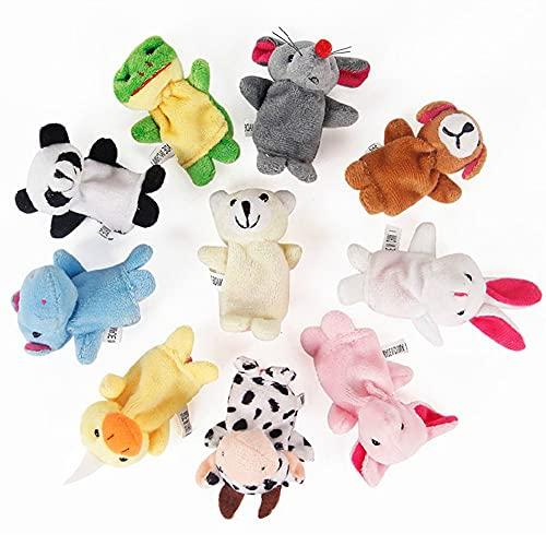 10 Piezas de Marionetas de Dedo de Animales Pequeños, Suave Marioneta Dedo, Marionetas de Dedos, Juego de Marionetas de Dedo, Dedo Animal De Marionetas, Niños Educativos Marionetas De Mano