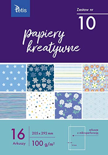 Tetis 2X Motivpapier Motivblock Papier mit Muster Dekopapier Designpapier Bastelpapier zum Basteln Découpage Scrapbook DIY