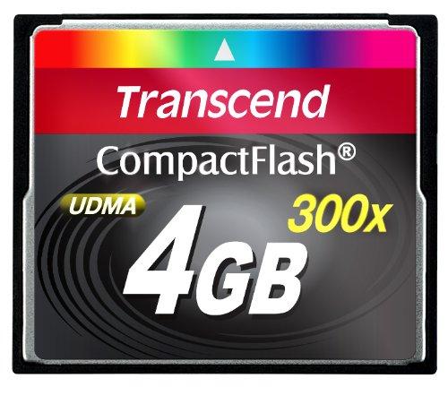 Transcend TS4GCF300 4GB 300x Compact Flash Card